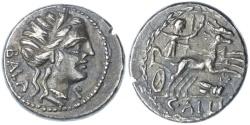 Ancient Coins - C. Allius Bala AR Denarius, SCARCE, VF+, 92 B.C.E.