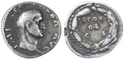 Ancient Coins - Galba AR Denarius, Near VF, 68/69 C.E.