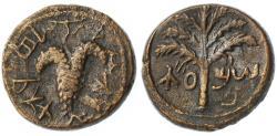 Ancient Coins - Shimon Bar Kokhba AE Small Denomination, Very Fine, 134/135 C.E.
