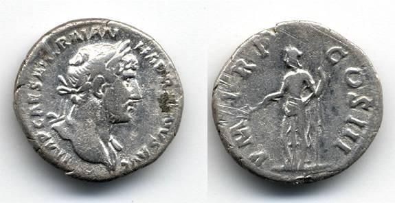Ancient Coins - Hadrian AR Denarius