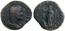 "Ancient Coins - Maximinus AE Sestertius, ""Victoria Germanica"", F/AVF,  236 - 238 C.E."