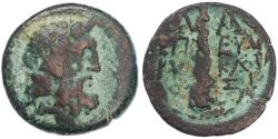 Ancient Coins - Lakedaimon (Sparta) Lakonia AE, Fine, C. Julius Eurykles magistrate, 31 - 2 B.C.E.