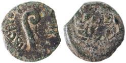 Ancient Coins - Pontius Pilate prefect under Tiberius AE Prutah, F/VF, 30/31 C.E.