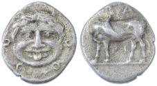 Ancient Coins - Parion, Mysia AR Hemidrachm, VF with pedigree, 4th Century B.C.E.
