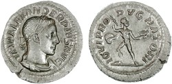 Ancient Coins - Severus Alexander AR Denarius, SUPERB EF on a broad flan, 231-235 C.E.