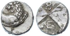 Ancient Coins - Chersonesos AR Hemidrachm, Extremely Fine, 386 - 338 B.C.E.