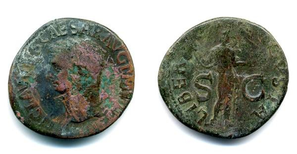 "Ancient Coins - Claudius AS ""Libertas"""