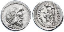 Ancient Coins - C. Vibius C.f. C.n. Pansa Caetronianus AR Denarius, VF+, 48 B.C.E.