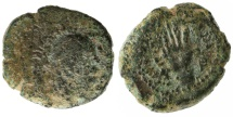 Ancient Coins - Malichus I AE19, Nabataea, RARE, Dated 34 B.C.E.