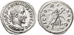 Ancient Coins - Maximinus AR Denarius, Near Mint State, 235 C.E.