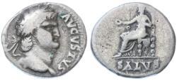 Ancient Coins - Nero AR Denarius, Fine, 65/66 C.E.
