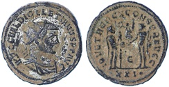 Ancient Coins - Diocletian Antoninianus AE, see notes, AEF, 284 - 305 C.E.