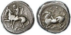 Ancient Coins - Kelenderis, Cilicia AR Stater, SNG Von Aulock PLATE COIN, Rare Variety - see notes, 425 - 400 B.C.E.