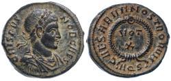 Ancient Coins - Crispus AE Follis, Extremely Fine, Rare, Aquileia Mint, 321 C.E.
