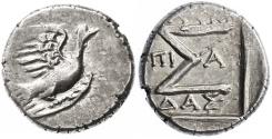 Ancient Coins - Sikyon, Sikyonia AR Hemidrachm, Extremely Fine, 250 - 146 B.C.E.