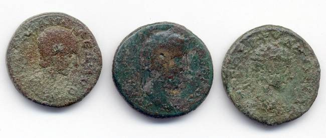 Ancient Coins - Lot of 3 Large Provincial AE, 24mm - 25mm, mixed grades/periods, GREAT value