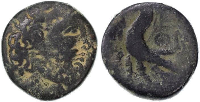 Ancient Coins - Ascalon, Psuedo-Autonomous AE, RARE, Fine, 56/55 B.C.E.