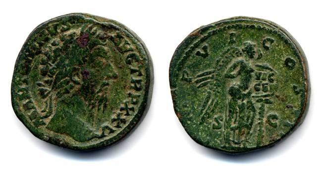 """Ancient Coins - Marcus Aurelius Sestertius """"VIC GER"""""""