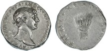 Ancient Coins - Trajan AR Tridrachm of Bostra (Caesarea, Cappadocia), GVF