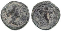 Ancient Coins - Abila of the Decapolis, Faustina Jr. AE, Very SCARCE, VF, 162/163 C.E.