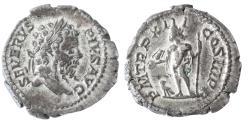 Ancient Coins - Septimius Severus AR Denarius, VF+, Circa. 205 C.E.