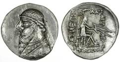Ancient Coins - Mithradates II Parthian AR Drachm, BOLD Choice EF, 123 - 88 B.C.E.
