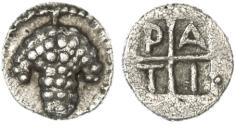 Ancient Coins - Tragilos, Macedon AR Hemiobol, BOLD EF & SUPERB, see notes, 5th Century B.C.E.