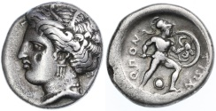 Ancient Coins - Lokris, Opuntii AR Stater, Very Fine, 370 - 360 B.C.E.