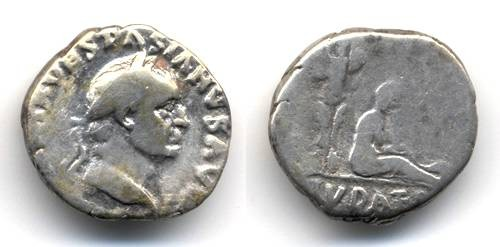 "Ancient Coins - Vespasian ""Judaea Capta"" Denarius"