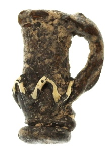 Ancient Coins - Holyland/Roman Miniature Glass Juglet Amulet, 4th - 6th Century C.E.