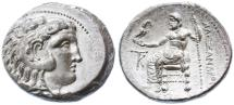Ancient Coins - Alexander III the Great AR Tetradrachm, Choice Extremely Fine, Kition Mint, 325 - 320 B.C.E.