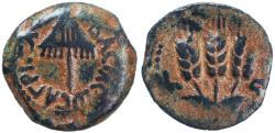 Ancient Coins - Agrippa AE Prutah, Choice GVF, 41/42 C.E.