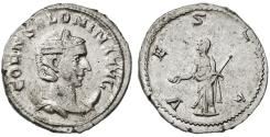 Ancient Coins - Salonina AR Antonianus, Very Fine+, Excellent metal, 253/254 C.E.