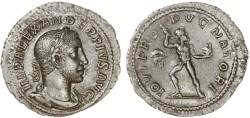 Ancient Coins - Severus Alexander AR Denarius, EF/AEF on a broad flan, 231 - 235 C.E.