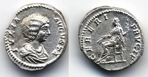 Ancient Coins - Julia Domna mother of Caracalla AR Denarius