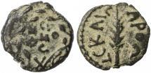Ancient Coins - Porcius Festus Procurator under Nero AE Prutah, Very Fine, 58/59 C.E.