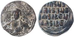 Ancient Coins - Byzantine Anonymous AE Follis, Attributed to Basil II and Constantine VIII, Very Fine, 976 - 1028 C.E.