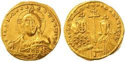 Ancient Coins - Constantine VII and Romanus I AV Gold Solidus, VF, 913 - 959 C.E.
