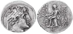 Ancient Coins - Alexander Balas AR Drachm, AEF/GVF, 150 - 145 B.C.E.