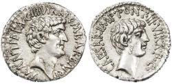 Ancient Coins - Mark Antony and Octavian Triumvirs AR Denarius,  Ephesus mint, Suberb Near Mint State, spring - summer 41 B.C.E.