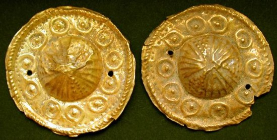 Ancient Coins - Ancient Gold Clothing Ornamentation, Circa. 8th Century B.C.E., Teddy Kollek ex. Mayor of Jerusalem Collection