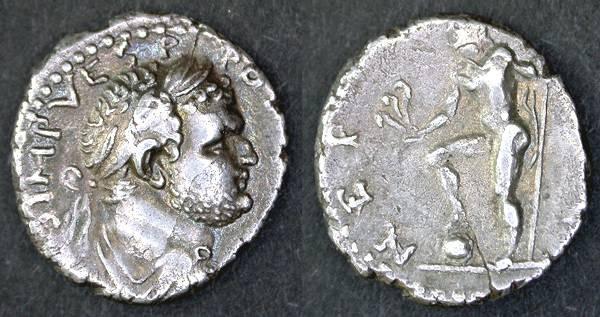Ancient Coins - Titus as Caesar, RARE Denarius, EF, Neptune foot on globe, Provincial mint.