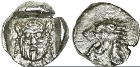 Ancient Coins - Philistia AR Reva Ma'ah, RARE and Fleur de Coin, 5th - 4th Centuries B.C.E.