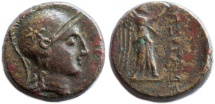 Ancient Coins - Mysia, Pergamum AE, RARE! VF, 2nd Century B.C.E.
