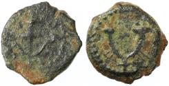 Ancient Coins - Herod the Great AE Prutah, 40 - 4 B.C.E.