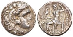 Ancient Coins - Seleukos I Nikator AR Tetradrachm in his own name, Bold Very Fine,  312 - 281 B.C.E.