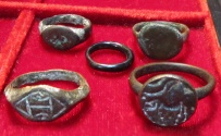Ancient Coins - Ancient Roman/Byzantine Rings, Lot of 5, Pedigreed