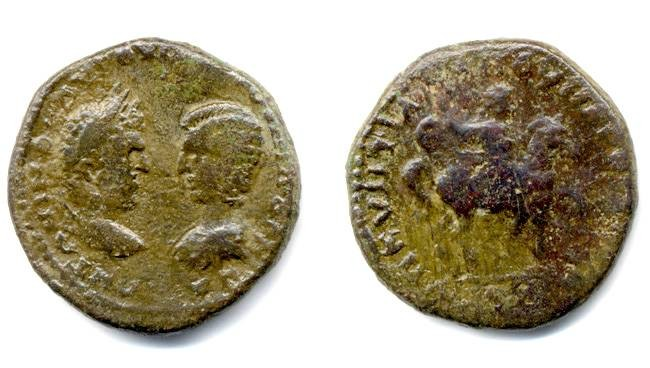 Ancient Coins - Caracalla & Julia Domna, Scarce Emperor on Horseback, Markianopolis, Moesia Inferior