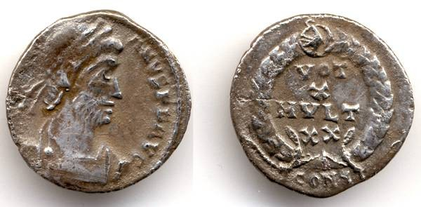 Ancient Coins - Julian II the Apostate, AR Siliqua, 360 - 363 C.E.