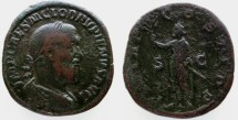 Ancient Coins - Pupienus AE Sestertius, Near VF, VERY SCARCE, 238 C.E.